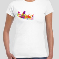 Love Finches Gildan Womans Slimfit Round neck tee