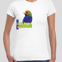 Save the Gouldian Finch Colour Gildan Slimfit Round neck tee