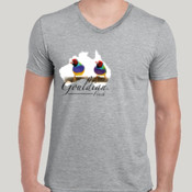 Gouldian Finch Map V Neck Tee
