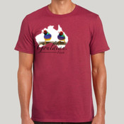 Gouldian Finch Map Slimfit Roundneck Tee