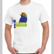 Save the Gouldian Finch Colour Gildan Cotton Tee