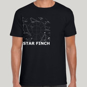 Star Finch Black Gildan Tee